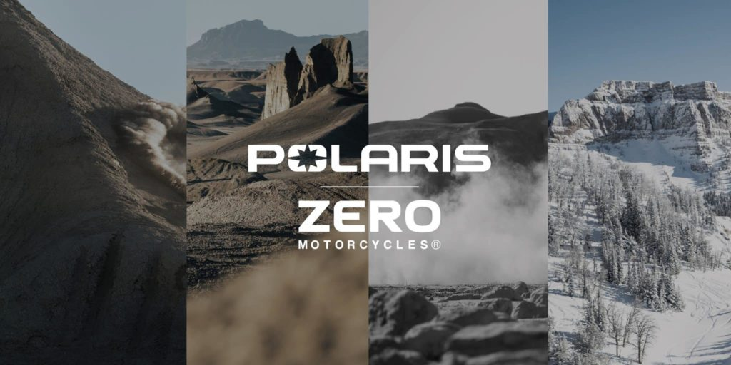 polaris zero motorcycles affiche montage canyon