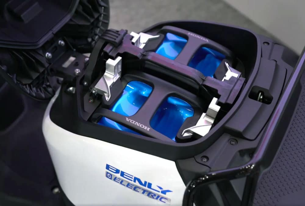 batteries interchangeables scooter moto électrique yamaha honda kawasaki suzuki