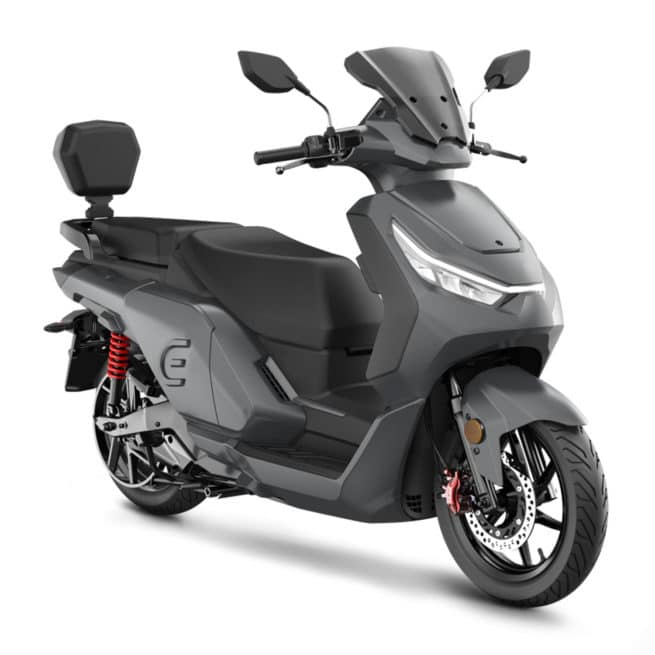 red electric e125 carbone scooter électrique grande autonomie