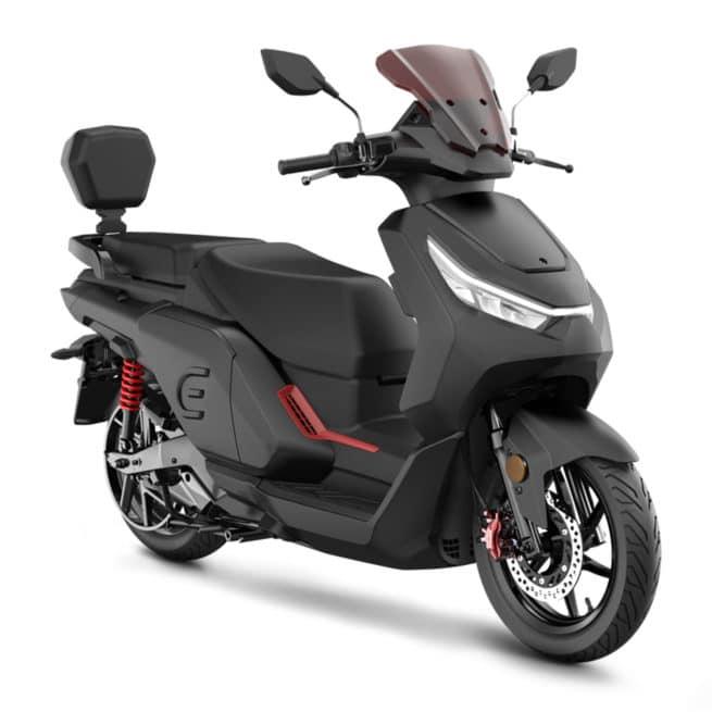 red electric e125 noir scooter électrique grande autonomie