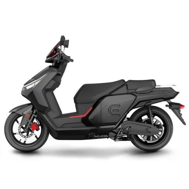 red electric e50 e100 e125 scooter électrique connecté