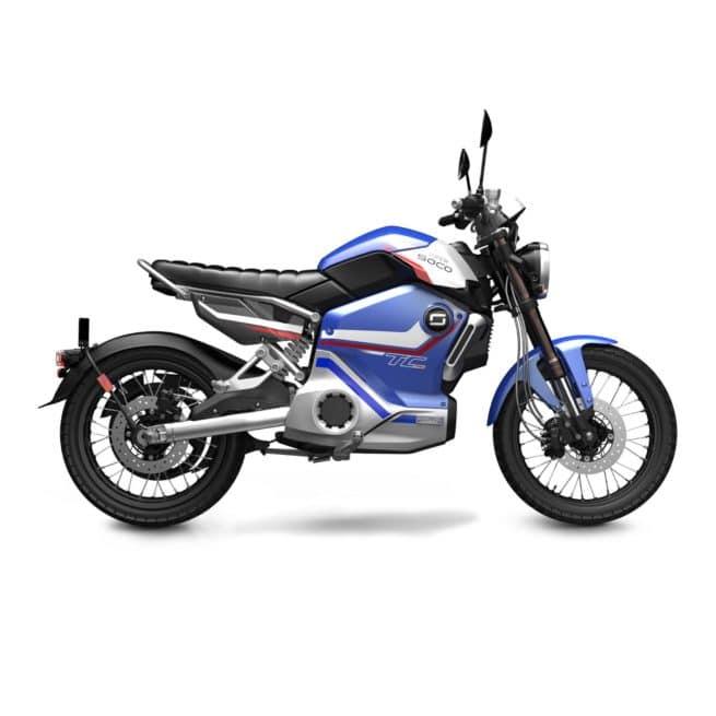 Super Soco TC MAX PRO édition limitée moto électrique 125 batterie lithium