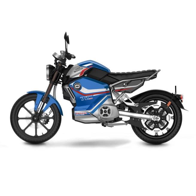 Super Soco TC MAX PRO édition limitée moto électrique vintage