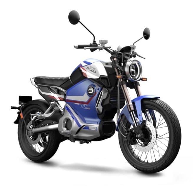 Super Soco TC MAX PRO édition limitée moto électrique custom