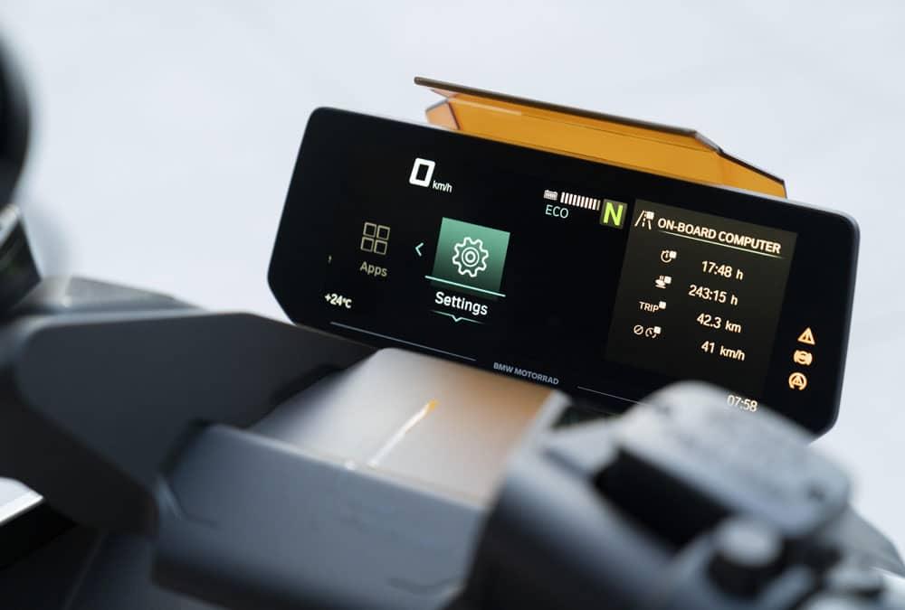 BMW CE 04 tableau de bord compteur écran
