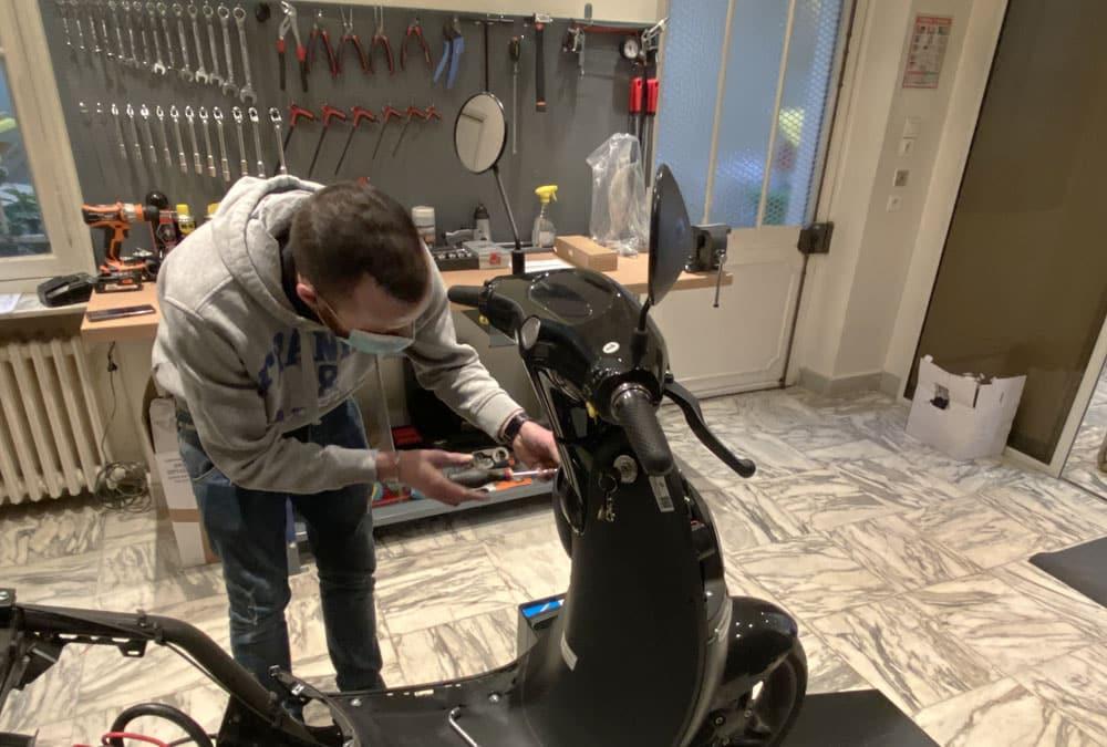 atelier réparation scooter électrique paris