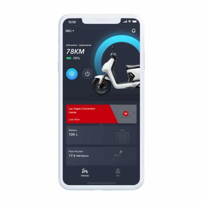 Niu MQi GT application 4G GPS