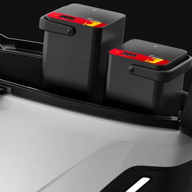 Niu MQi GT batteries sous la selle