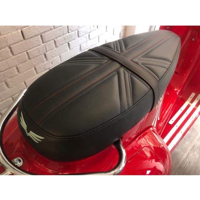 selle premium cuir fabrication française scooter électrique