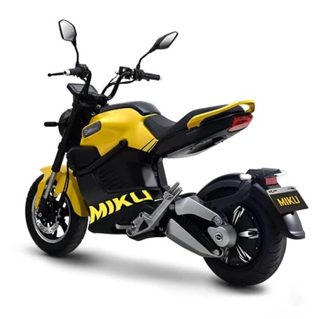 miku super moto électrique jaune rouge bleu