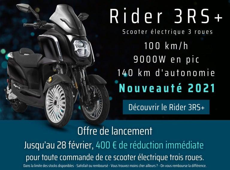 scooter électrique 3 roues rider 3rs+ promotion