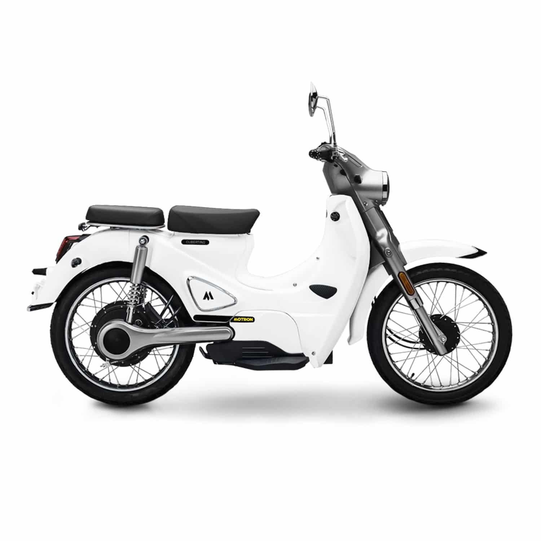 Motron Cubertino blanc scooter électrique équivalent 50 cm3 vintage
