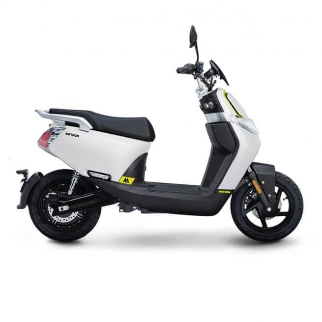 Motron Motorcycles Whizz scooter électrique blanc