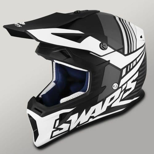 casque motocross électrique swaps blur