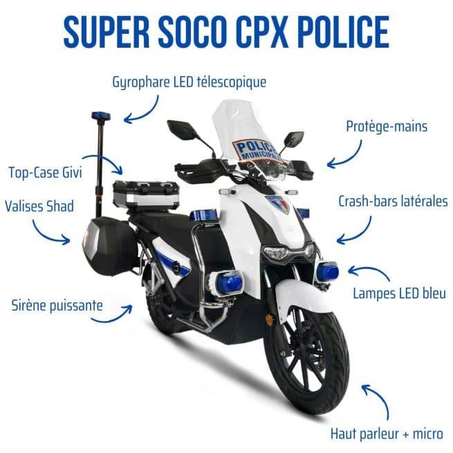 scooter électrique 125 force de l'ordre