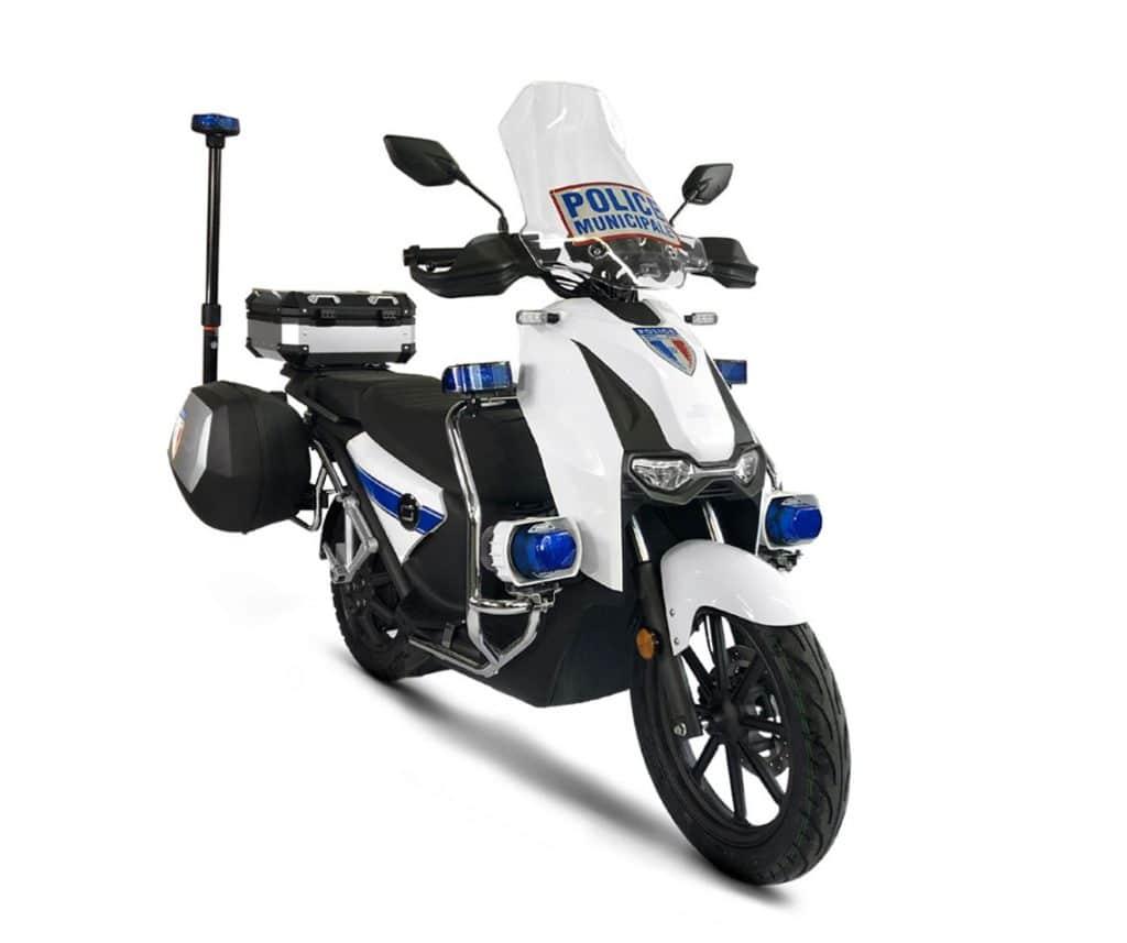 scooter électrique police municipale équivalent 125