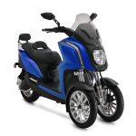 Rider 3RS+ bleu trois quart face droit sur fond blanc