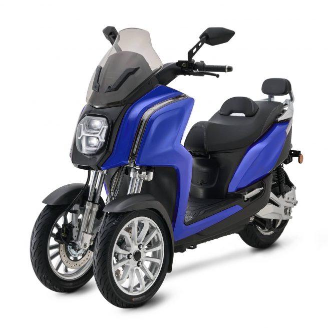 Rider 3RS+ bleu trois quart face gauche sur fond blanc