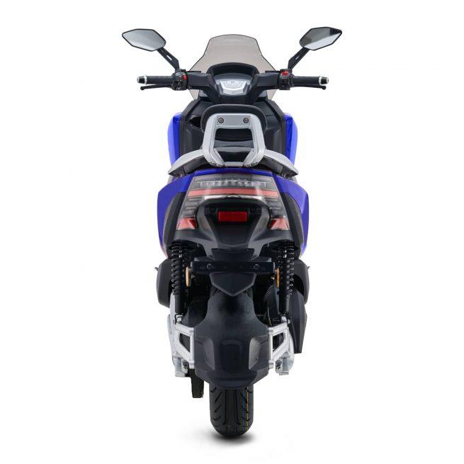 Rider 3RS+ bleu vue arrière sur fond blanc