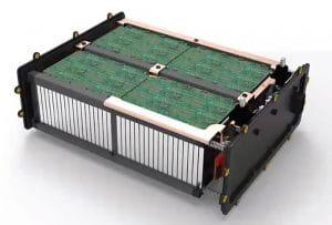 une batterie lithium-carbone démontée